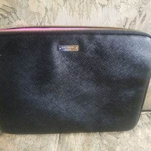 Kate Spade black/pink padded laptop bag